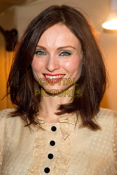 Sophie Ellis-Bextor.Art restaurant opening 'White Rabbite', Moscow, Russia..October 7th, 2011.headshot portrait beige blouse black  polka dot sheer buttons .CAP/PER/SB.©SB/PersonaStars/CapitalPictures