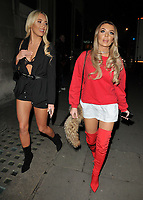 Amber Turner and Chloe Crowhurst at the Wolfie Ciny x I Saw It First Christmas 2017 Collection launch party, Tape London, Hanover Square, London, England, UK, on Wednesday 08 November 2017.<br /> CAP/CAN<br /> &copy;CAN/Capital Pictures