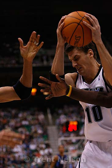 Gordan Giricek. Utah Jazz vs. Dallas Mavericks, NBA basketball. 11/02/2005<br />