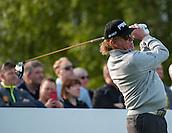 21.05.2015. Wentworth, England. BMW PGA Golf Championship. Round 1.  Miguel Angel Jimenez [ESP] on the first tee. The first round of the 2015 BMW PGA Championship from The West Course Wentworth Golf Club