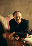 Bernardo Bertolucci, ritratto a Firenze, 1995; Bernardo Bertolucci, portrait in<br />   Florence,1995