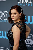 Rachel Bloom attends the 23rd Annual Critics' Choice Awards at Barker Hangar in Santa Monica, Los Angeles, USA, on 11 January 2018. Photo: Hubert Boesl - NO WIRE SERVICE - Photo: Hubert Boesl/dpa /MediaPunch ***FOR USA ONLY***