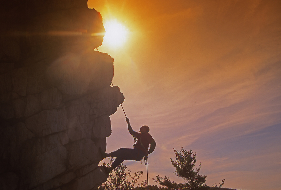 Repelling at Pine Grove Furnace State Park, Pennsylvania,