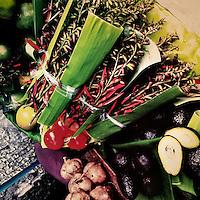 Home grown vegetables seen on the street market in the center of San Salvador, El Salvador, 21 December 2013.