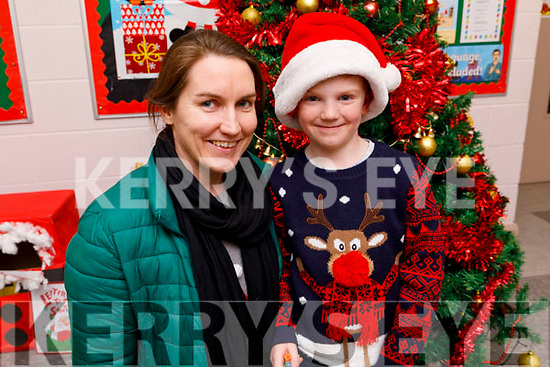 Darragh and Rosalee Sheehan enjoying the St Pat's Christmas GAA Juvenile party in the school hall on Friday.