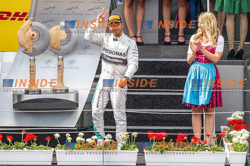 Lewis Hamilton, (GBR, Mercedes AMG Petronas Formula One Team) <br /> 22.06.2014, Spielberg, AUSTRIA<br /> Formula 1 Gran Premio d'Austria <br /> Foto EXPA/ JFK / Insidefoto