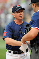 July 21, 2008: Manager Kevin Boles (19) of the Greenville Drive, Class A affiliate of the Boston Red Sox, in a game against the Hagerstown Suns at Fluor Field at the West End in Greenville, S.C. Boles was named 2010 manager of the Salem Red Sox on Dec. 22, 2009. Photo by:  Tom Priddy/Four Seam Images
