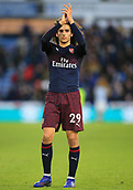 9th February 2019, The John Smith's Stadium, Huddersfield, England; EPL Premier League football, Huddersfield versus Arsenal; Matteo Guendouzi of Arsenal applauds the visiting fans at the final whistle