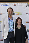 Bellmore, New York, USA. July 16, 2015. Actor LUKAS HASSEL and DEBORAH MARKOWITZ, Nassau County Film Commissioner, are on the Red Carpet at the 18th Annual LIIFE Awards Ceremony, at the Bellmore Movies. Markowitz is the director of of the Long Island International Film Expo.