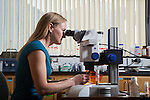 1209-09 026.CR2<br /> <br /> Emily Bates, Assistant Professor of Chemistry Bio Chemistry. Identifying the gene behind birth defects.<br /> <br /> September 7, 2012<br /> <br /> Photography by Mark A. Philbrick<br /> <br /> Copyright BYU Photo 2012<br /> All Rights Reserved<br /> photo@byu.edu  (801)422-7322