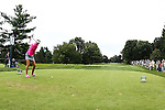 Lexi Thompson tees off on the 2nd tee at the LPGA Championship 2014 Sponsored By Wegmans at Monroe Golf Club in Pittsford, New York on August 16, 2014