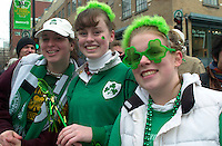 March 14 2004  Montreal, Quebec, Canada.<br /> <br /> Saint-Patrick Day Parade in Montreal, March 14 2004