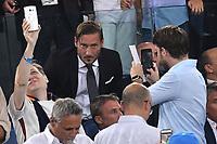 Francesco Totti in tribuna. Selfie e foto dei tifosi <br /> Roma 26-08-2017 Stadio Olimpico Calcio Serie A AS Roma - Inter Foto Andrea Staccioli / Insidefoto