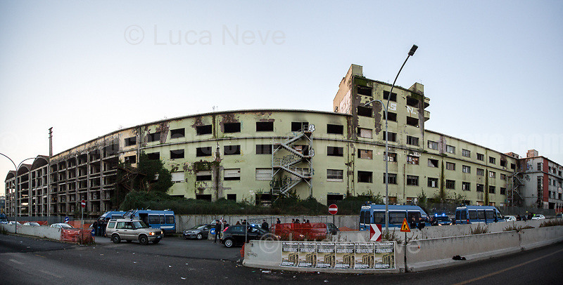 (This photo is an artificial stitch of 2 frames together. It can contain photographic mistakes & distortions. It is part of this story just to give the audience an idea of the size of the building. It is not meant to be for licensing).<br />