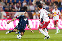 Aurelien Collin (78) of Sporting Kansas City. Sporting Kansas City defeated the New York Red Bulls 1-0 during a Major League Soccer (MLS) match at Red Bull Arena in Harrison, NJ, on April 17, 2013.