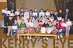 Churchill Under 8's receiving their medals and certificates at the club's Juvenile Awards Night in The Ballyroe Heights Hotel on Sunday night. Front l/r  Daniel Greaney, Kevin O Connor, Anna Marie O Donnell, Adam Dolan , Brian Hamilton, D.J Mc Carthy, Daragh O Connor and Jack Falvey, Middle l/r  Edward Stack, Caoimhn Finn, Miche?al Dolan, Jamesie Lynch, Damien Doherty, Cian Kearney, Dara Heim, Daragh Murphy, Micheal O Sullivan, Shannon Murphy and Sally Ann Lenihan, Back l/r  Max Downing, Cian Donnellan, Keevan McElligott, Luke Doherty, Joseph Lenihan, Ronan O Brien, Robbie Scott, Danny Sheehy, Tom Greaney, Dara O Sullivan, Oisin Maunsell, Robin Porter and Paul Galvin   ............................................................................................................................................................................................................................................................................................................... ............