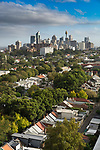 A high view of Sydney CBD from the suburbs. Sydney is the state capital of New South Wales and the most populous city in Australia and Oceania. Located on Australia's east coast, the metropolis surrounds the world's largest natural harbour and sprawls about on its periphery towards the Blue Mountains to the west, Hawkesbury to the north and Macarthur to the south