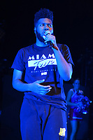 MIAMI BEACH, FL - AUGUST 02: Khalid performs at the Fillmore on August 2, 2017 in Miami Beach, Florida. Credit MPI04 / MediaPunch