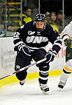 6 December 2009: University of New Hampshire Wildcats' forward Stevie Moses, a Sophomore from Leominster, MA, in action against the University of Vermont Catamounts at Gutterson Fieldhouse in Burlington, Vermont. The Wildcats defeated the Catamounts 5-2 in the Hockey East matchup. Mandatory Credit: Ed Wolfstein Photo
