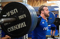 Michael van Vuuren of Bath Rugby in the gym. Bath Rugby pre-season training on July 2, 2018 at Farleigh House in Bath, England. Photo by: Patrick Khachfe / Onside Images