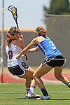 San Diego, CA 05/21/11 - Anna Knowles (Torrey Pines #8) and Allison Proehl (Rancho Bernardo #3) in action during the 2011 CIF San Diego Section Division 1 Championship game between Rancho Bernardo and Torrey Pines.
