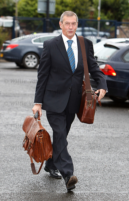 Campell Ogilvie arrives for the SFA AGM this morning