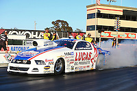 Jul. 26, 2013; Sonoma, CA, USA: NHRA pro stock driver Larry Morgan during qualifying for the Sonoma Nationals at Sonoma Raceway. Mandatory Credit: Mark J. Rebilas-