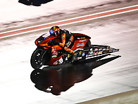 Jul 20, 2019; Morrison, CO, USA; NHRA pro stock motorcycle rider Ryan Oehler during qualifying for the Mile High Nationals at Bandimere Speedway. Mandatory Credit: Mark J. Rebilas-USA TODAY Sports