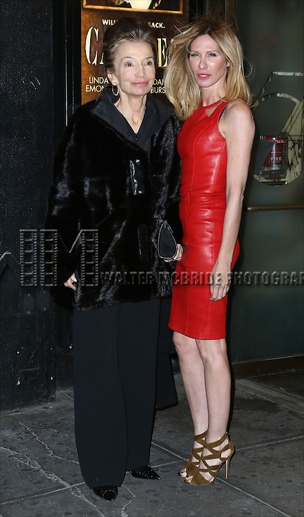 Lee Radziwell and Carole Radziwill attending the Broadway Opening Night Performance of 'Cabaret' at Studio 54 on April 24, 2014 in New York City.