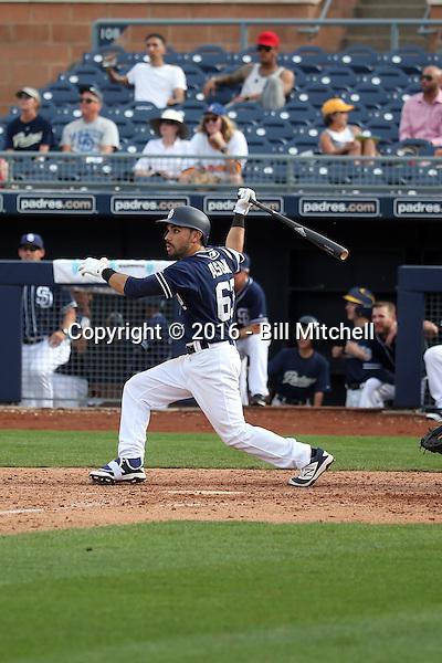 Carlos Asauje - San Diego Padres 2016 spring training (Bill Mitchell)