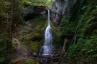 Marymere Falls, Falls Creek, Barnes Point, Olympic National Park, Washington, US