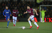 West Ham United's Robert Snodgrass<br /> <br /> Photographer Rob Newell/CameraSport<br /> <br /> Emirates FA Cup Fourth Round - AFC Wimbledon v West Ham United - Saturday 26th January 2019 - Kingsmeadow Stadium - London<br />  <br /> World Copyright © 2019 CameraSport. All rights reserved. 43 Linden Ave. Countesthorpe. Leicester. England. LE8 5PG - Tel: +44 (0) 116 277 4147 - admin@camerasport.com - www.camerasport.com