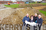 Builders moved in on Tuesday to begin work on the new Aldi store at the John Mitchel's site an emotional experience for members of the club who have played on the pitch for many years.  Pictured from l-r were: Pat Keohane (Club Secretary), Brid McElligott (Chairperson), Hugh Fitzgibbon and Liam Scanlon (Joint Treasurers)