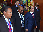 Egypt's President Abdel-Fattah el-Sisi attends the 30th Ordinary Session of the Assembly of the Heads of State and the Government of the African Union in Addis Ababa, Ethiopia January 28, 2018. Photo by Egyptian President Office