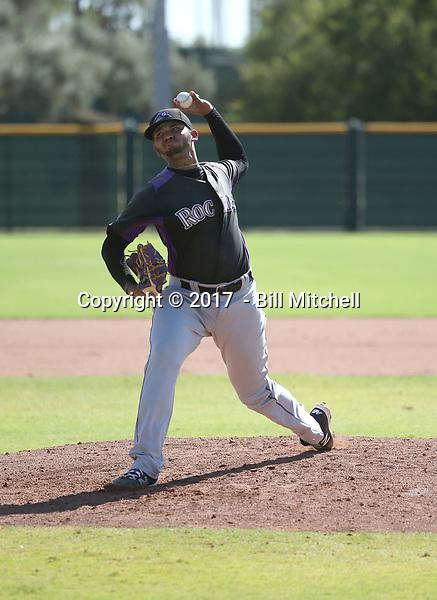 Alfredo Garcia - 2017 AIL Rockies (Bill Mitchell)