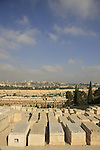 Israel, Jerusalem, a view of the Old City and Temple Mount from the Mount of Olives