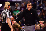 COLUMBUS, OH - MARCH 30: Louisville Cardinals head coach Jeff Walz reacts to a referee's call during a semifinal game of the 2018 NCAA Division I Women's Basketball Final Four at Nationwide Arena in Columbus, Ohio. (Photo by Ben Solomon/NCAA Photos via Getty Images)