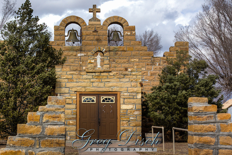 The Sacred Heart Catholic Church, Quemado, New Mexico was built in the 1930's.
