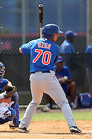 New York Mets outfielder Travis Ozga #70 during a minor league spring training intrasquad game at the Port St. Lucie Training Complex on March 27, 2012 in Port St. Lucie, Florida.  (Mike Janes/Four Seam Images)