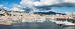 A panorama of the city of Genoa which is capital of the province of Liguria in Italy. It is the birthplace of Christopher Columbus, a major port and is the home of pesto sauce.