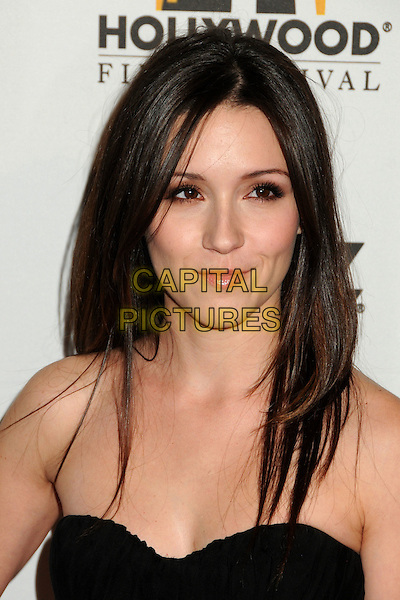 SHANNON WOODWARD.14th Annual Hollywood Awards Gala Presented By Starz held at The Beverly Hilton Hotel, Beverly Hills, CA, USA. .October 25th, 2010 .headshot portrait strapless black.CAP/ADM/BP.©Byron Purvis/AdMedia/Capital Pictures