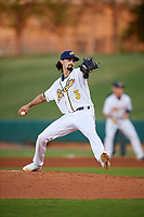 Montgomery Biscuits starting pitcher Hunter Wood (3) delivers a pitch during a game against the Mississippi Braves on April 24, 2017 at Montgomery Riverwalk Stadium in Montgomery, Alabama.  Montgomery defeated Mississippi 3-2.  (Mike Janes/Four Seam Images)