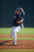 New York Yankees Matt Sauer (39) during a Minor League Spring Training game against the Philadelphia Phillies on March 23, 2019 at the New York Yankees Minor League Complex in Tampa, Florida.  (Mike Janes/Four Seam Images)