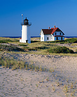 Cape Cod National Seashore, MA <br /> Race Point Lighthouse (1876) amid the rolling dunes of Race Point