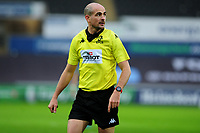 Referee Alexandre Ruiz during the Heineken Champions Cup Round 5 match between the Ospreys and Saracens at the Liberty Stadium in Swansea, Wales, UK. Saturday January 11 2020.