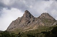views up the Col du Galibier<br /> <br /> Stage 18: Embrun to Valloire(208km)<br /> 106th Tour de France 2019 (2.UWT)<br /> <br /> ©kramon