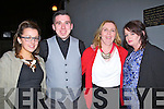 NIGHT OUT: enjoying a night at the dogs at The Kingdom Greyhound Stadium,Tralee on Friday night, l-r: Dena Devan,Patrick Fitzgibbon, Mary Lacey and Marie Bastible.