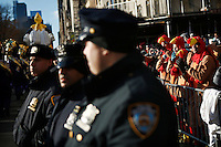 USA, New York, Nov 28, 2013. People attend the 87th Macy's Thanksgiving Day Parade in New York City. Photo by VIEWpress/Eduardo Munoz Alvarez