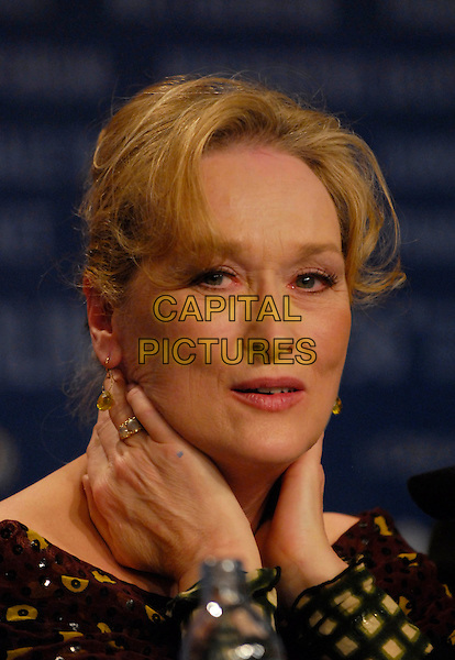 "MERYL STREEP.Photocall for ""A Prairie Home Companion"" at the 56th Berlin (Berlinale) Film Festival, Berlin, Germany..February 12th, 2006.Ref: KRA.headshot portrait .www.capitalpictures.com.sales@capitalpictures.com.©Capital Pictures"