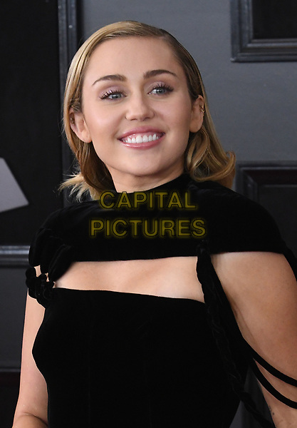 NEW YORK, NY - JANUARY 28: Miley Cyrus at the 60th Annual GRAMMY Awards at Madison Square Garden on January 28, 2018 in New York City. <br /> CAP/MPI/JP<br /> &copy;JP/MPI/Capital Pictures